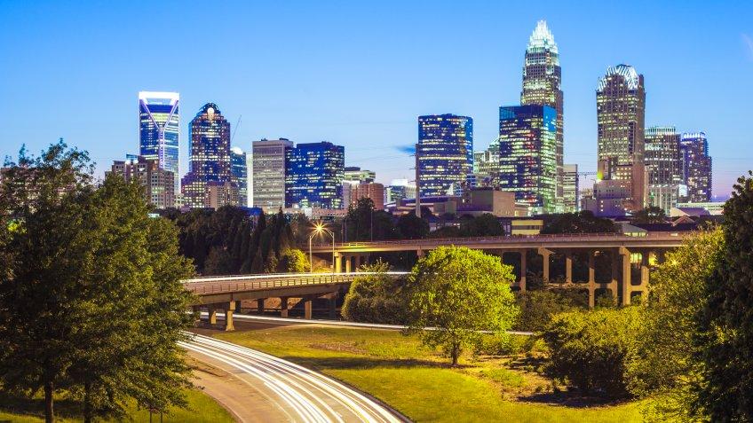 Charlotte, NC at night