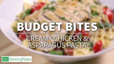 Budget Bites: Creamy Chicken and Asparagus Pasta