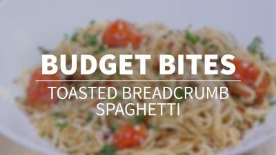 Budget Bites: Toasted Breadcrumb Spaghetti