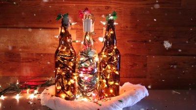 How to Make DIY Holiday Bottle Lights