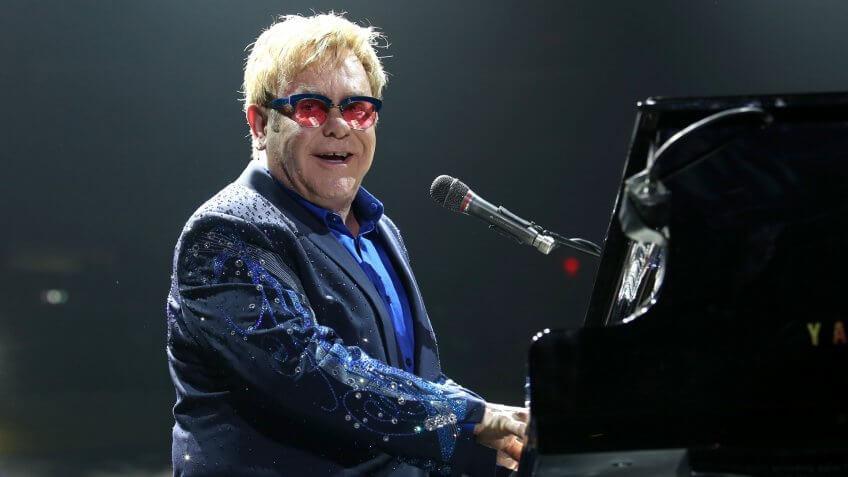 NEW YORK - DEC 3: Sir Elton John performs in concert at Madison Square Garden on December 3, 2013 in New York City.
