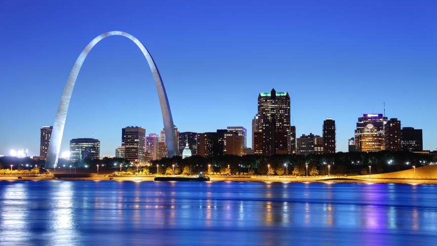 The city of St. Louis
