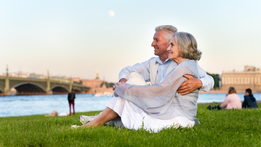 mature couple relaxing