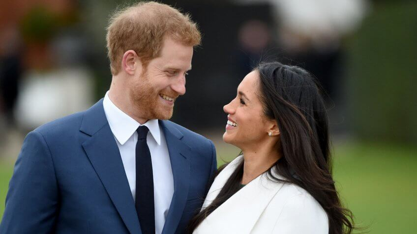 Mandatory Credit: Photo by FACUNDO ARRIZABALAGA/EPA-EFE/REX/Shutterstock (9243878t)Britain's Prince Harry pose with Meghan Markle during a photocall after announcing their engagement in the Sunken Garden in Kensington Palace in London, Britain, 27 November.