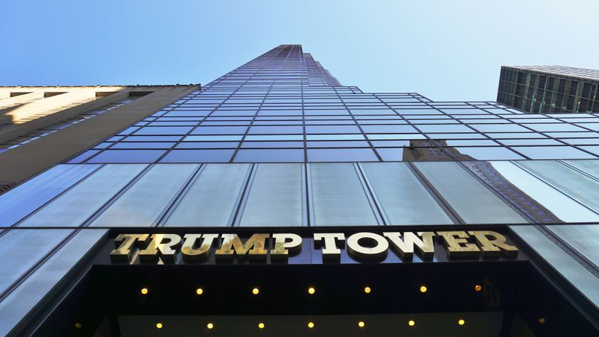 NEW YORK, NY -4 SEPTEMBER 2016- The Trump Tower on Fifth Avenue in New York is home to 2016 Republican nominee Donald Trump.