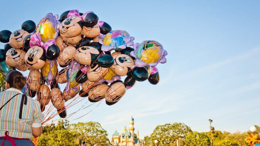 Mickey Mouse themed balloons