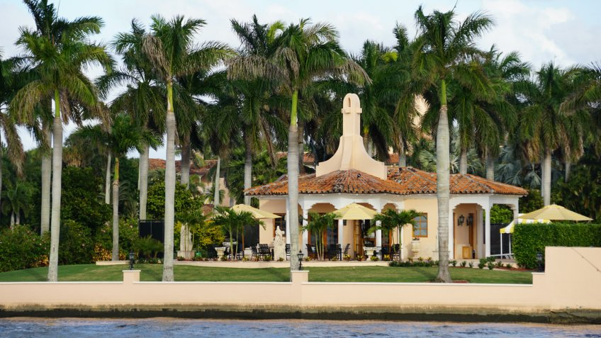 PALM BEACH, FLORIDA - NOV 29: Mar-a-Lago in Palm Beach, Florida, as seen on Nov 29, 2016.