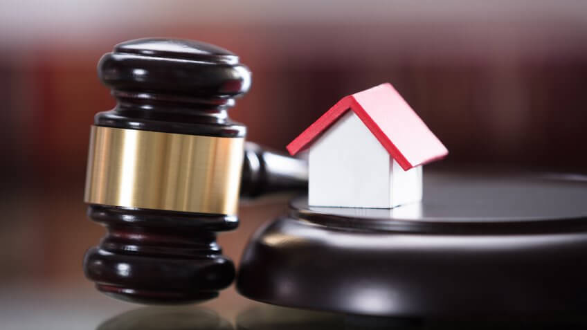 Gavel With Small House Model