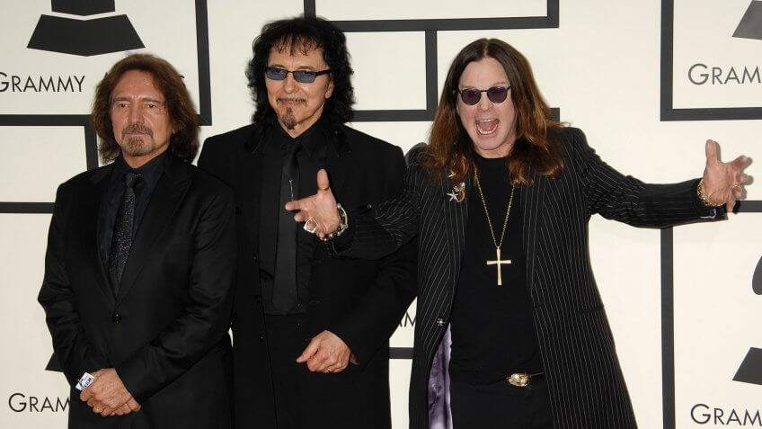 LOS ANGELES - JAN 26: Black Sabbath, Ozzy Osbourne arrives at the 56th Annual Grammy Awards Arrivals on January 26, 2014 in Los Angeles, CA.