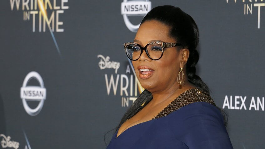 Oprah Winfrey at the Los Angeles premiere of 'A Wrinkle In Time'