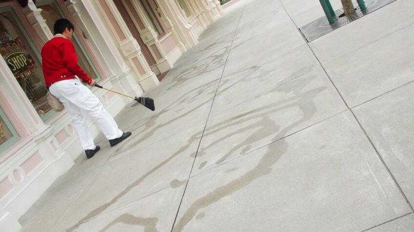 Cleaning, Disneyland Resort, Janitor, custodian