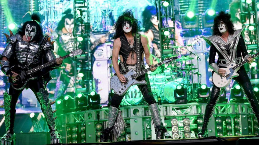 Photo by Daniel Dal Zennaro/Epa/REX/Shutterstock Members of the Us Band Kiss (l-r) Gene Simmons Paul Stanley and Tommy Thayer Perform at the Arena of Verona in Verona Italy 11 June 2015Kiss in Concert at Arena of Verona - Jun 2015.