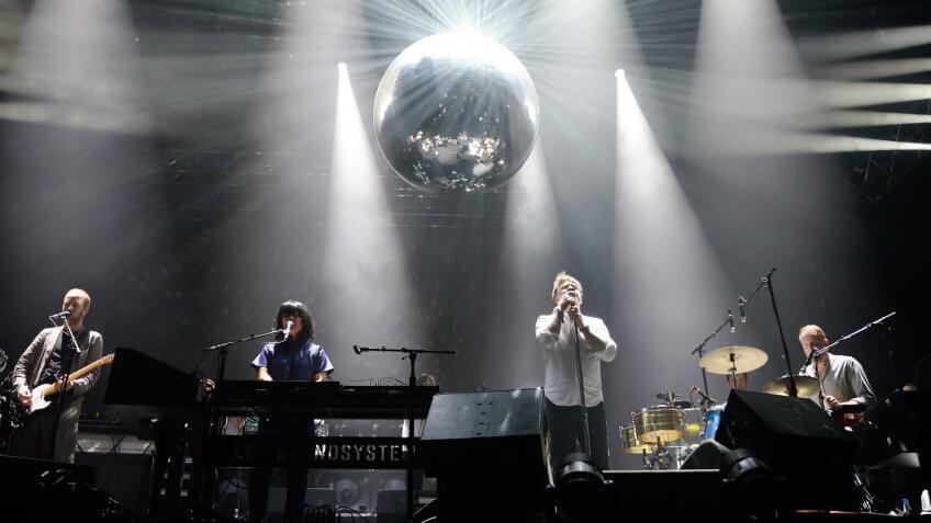 BARCELONA - JUN 2: LCD Soundsystem (band) perform in concert at Primavera Sound 2016 Festival on June 2, 2016 in Barcelona, Spain.