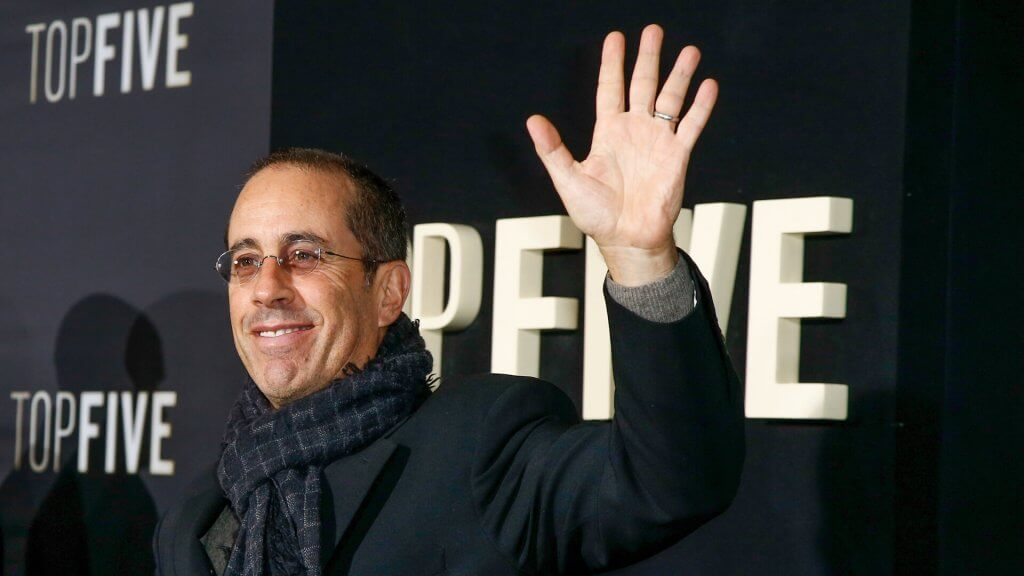 "NEW YORK-DEC 3: Comedian Jerry Seinfeld attends the ""Top Five"" premiere at the Ziegfeld Theatre on December 3, 2014 in New York City."