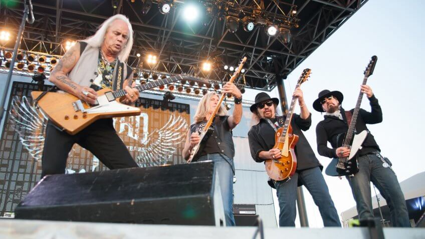 LINCOLN, CA - June 22: Lynyrd Skynyrd performs at Thunder Valley Casino and Resort in Lincoln, California on June 22, 2013.