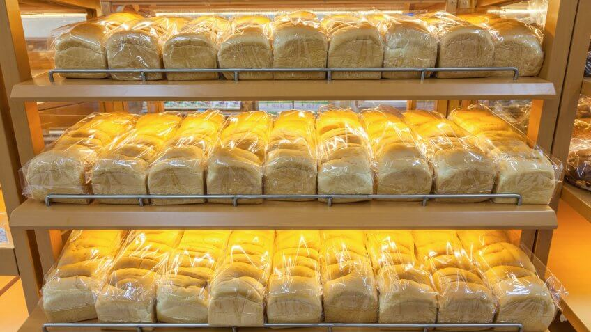 bread sold in a supermarket.
