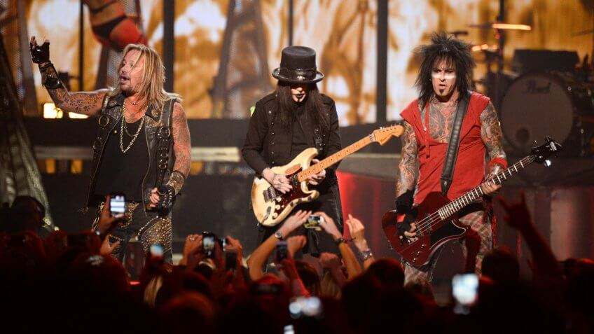 Photo by Powers Imagery/Invision/AP/REX/Shutterstock Motley Crue performs at the iHeartRadio Music Festival at the MGM Grand Garden Arena on in Las Vegas, NevadaiHeartRadio Music Festival - Day 1, Las Vegas, USA.