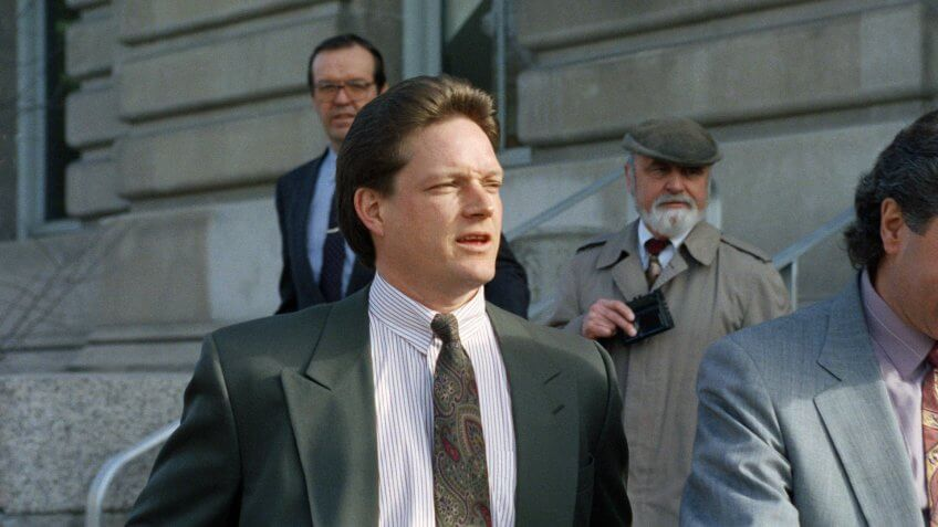 Mandatory Credit: Photo by Barry Sweet/AP/REX/Shutterstock (6583643a)New York Yankees relief pitcher Steve Howe, at left, leaves federal court in Missoula, Montana, after pleading not guilty to misdemeanor drug charges.