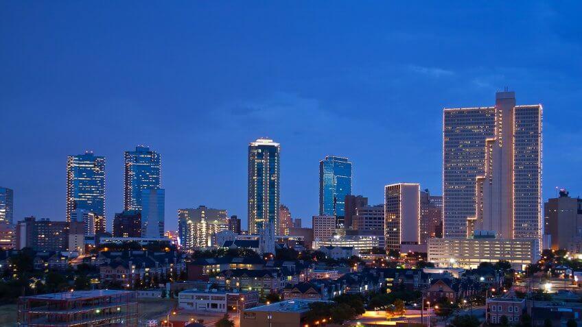 Forth Worth Texas skyline