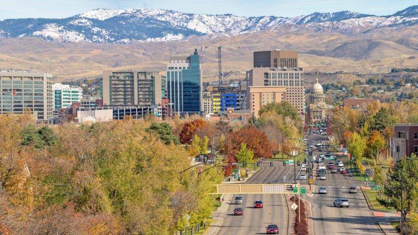 Boise, Idaho, Urban Skyline, City, Autumn.