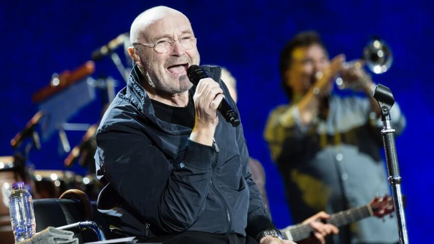 Photo by Richard Isaac/REX/Shutterstock Phil Collins performingBritish Summer Time Festival, Hyde Park, London, UK - 30 Jun 2017.