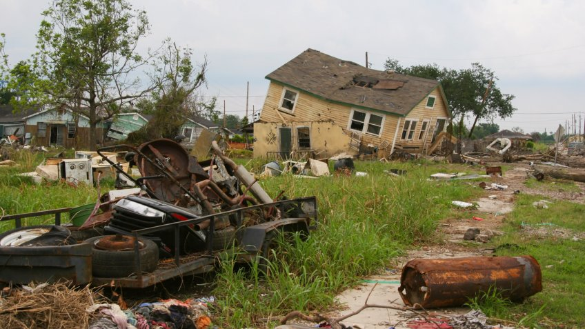 Hurricane Katrina, Louisiana, damage, homes