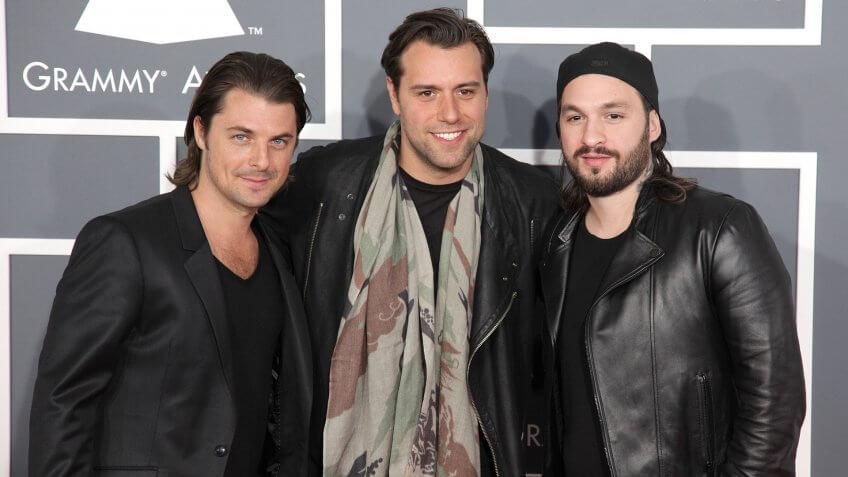 Photo by Broadimage/REX/Shutterstock Swedish House Mafia55th Annual Grammy Awards, Arrivals, Los Angeles, America - 10 Feb 2013.