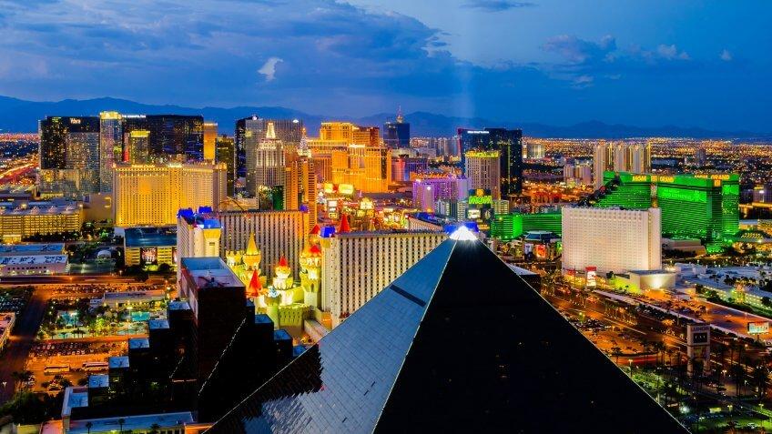 Las Vegas Nevada and the Luxor hotel
