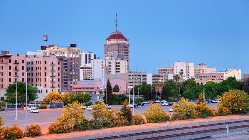Downtown Fresno, California.