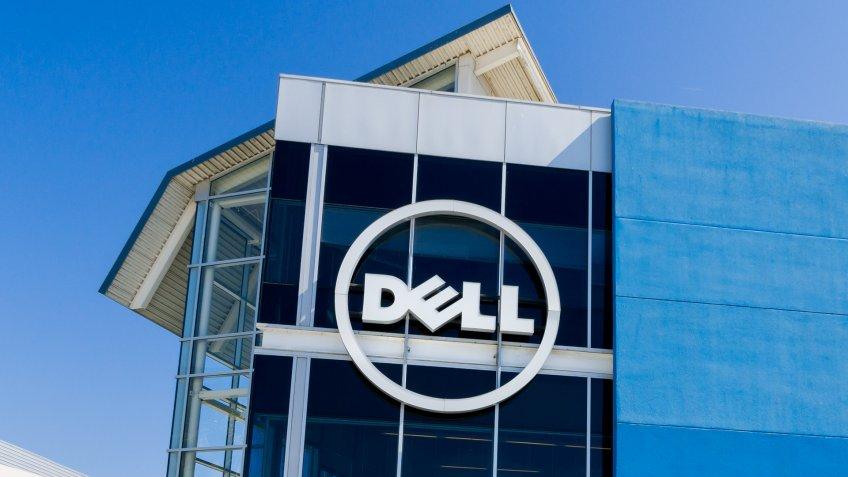 SANTA CLARA, CA/USA - JULY 29, 2017: Dell computer corporate facility and logo.