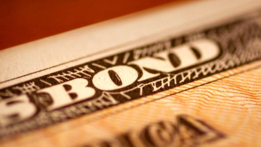 Close up of United States savings bond.