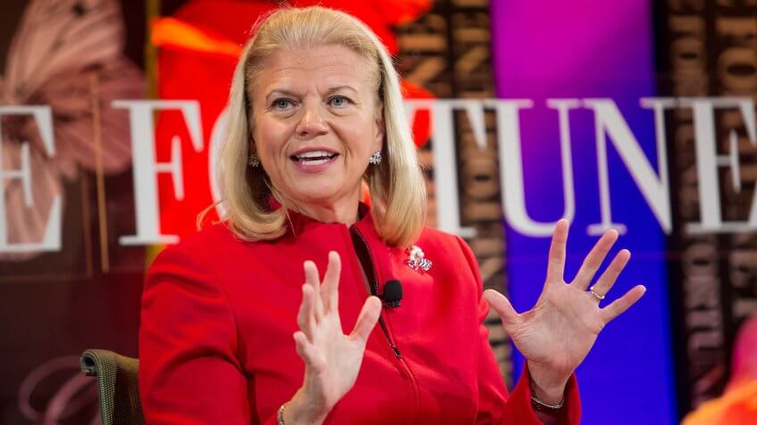 Laguna Niguel, CA, USA; October 2nd, 2012; Ginni Rometty, President and CEO, IBM speaks during the 2012 Most Powerful Women Summit.