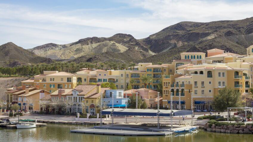 Henderson, USA - February 11, 2014: A photo of  Lake Las Vegas.