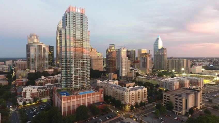 Cities, North Carolina, downtown, hotels