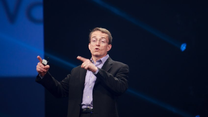 LAS VEGAS, NV -?? MAY 6, 2014: CEO VMware Pat Gelsinger makes speech at EMC World 2014 conference on May 6, 2014 in Las Vegas, NV.