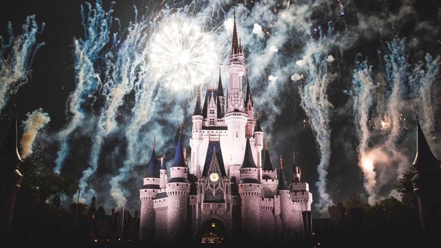 Fireworks lit up around Cinderella Castle at Walt Disney World