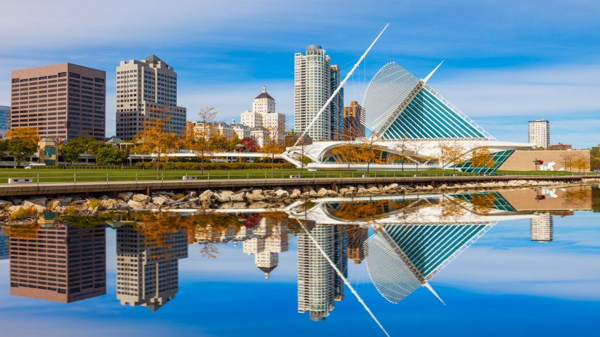 skyline of Milwaukee