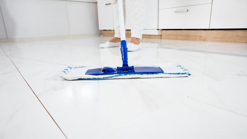 Mop sweeping the floor
