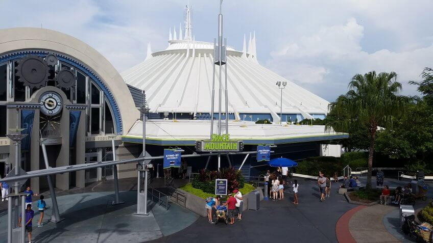 Space Mountain attraction at Walt Disney World