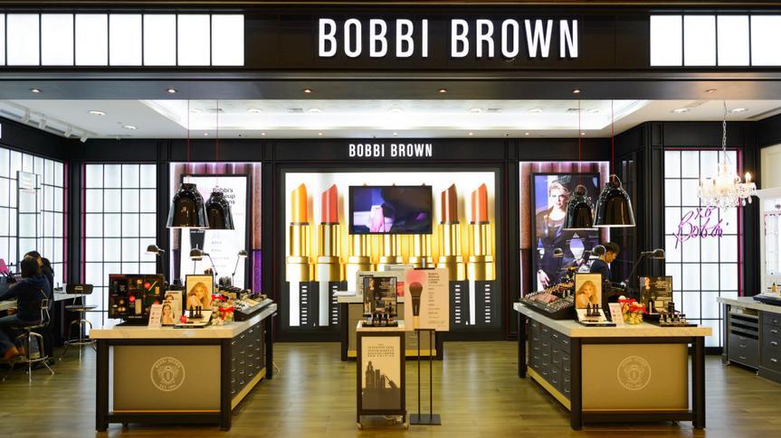 Storefront of Bobbi Brown cosmetics store