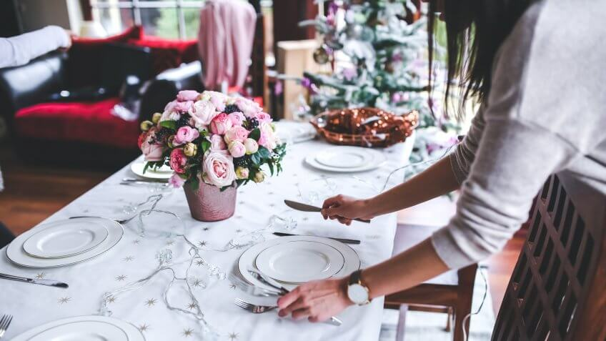 wedding dinner place settings