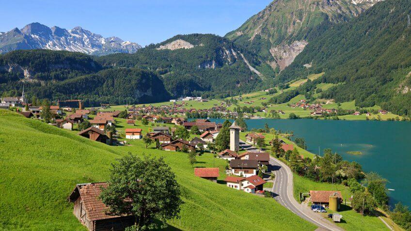 Village of Lungern, Switzerland