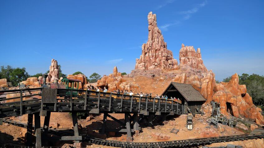 Big Thunder Mountain Railroad attraction at Walt Disney World