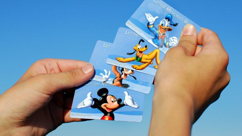 Disney passes for admission to enter Walt Disney World