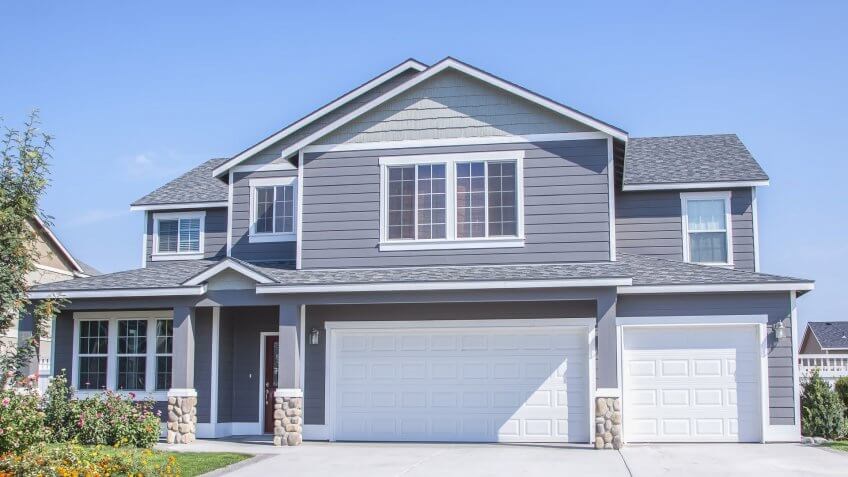 perfectly manicured suburban house