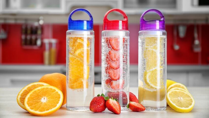 Fruit infused water for flavor