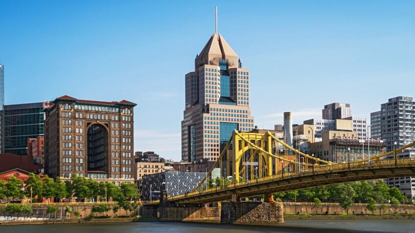 View of Downtown Pittsburgh.