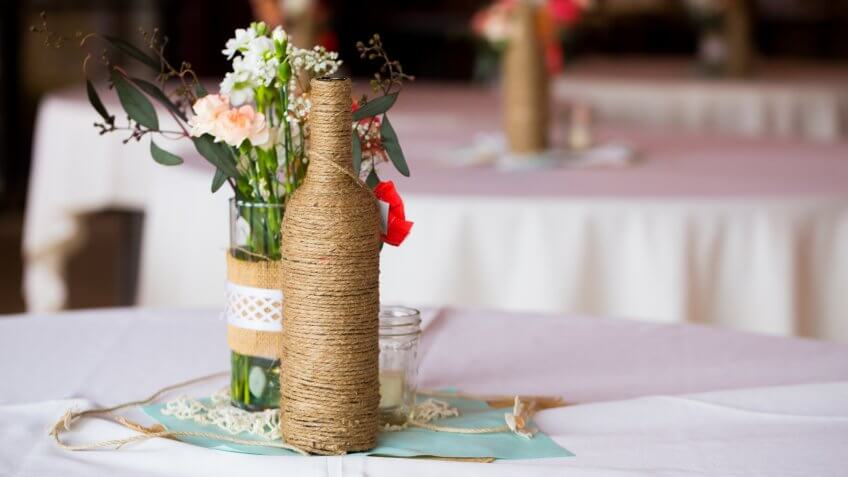 DIY wedding decor table centerpieces
