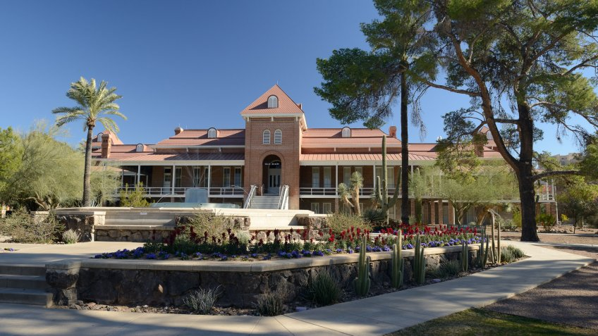 The Old Main building in the campus of University of Arizona in downtown Tucson, Arizona, USA.