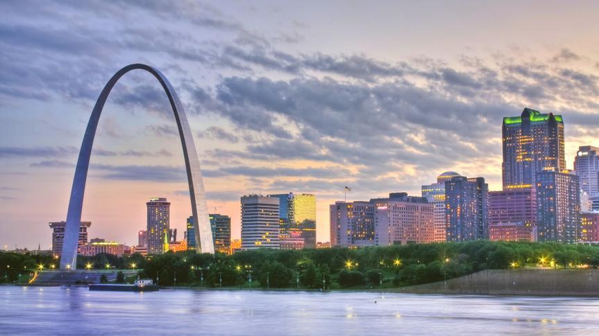 St. Louis Missouri at sunset